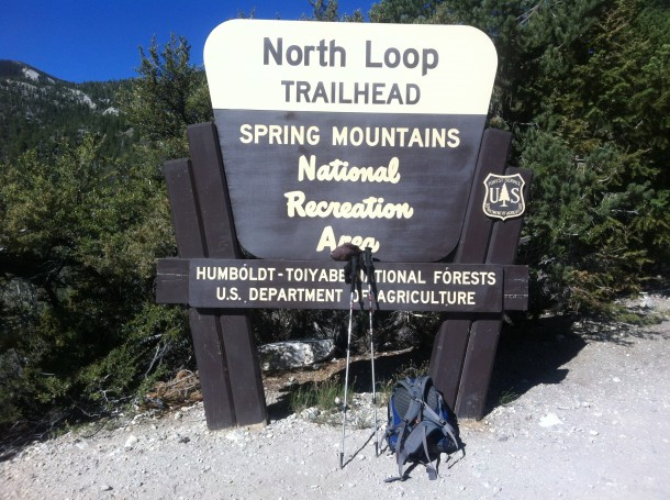 North Loop Trailhead for Raintree/ Mummy Springs