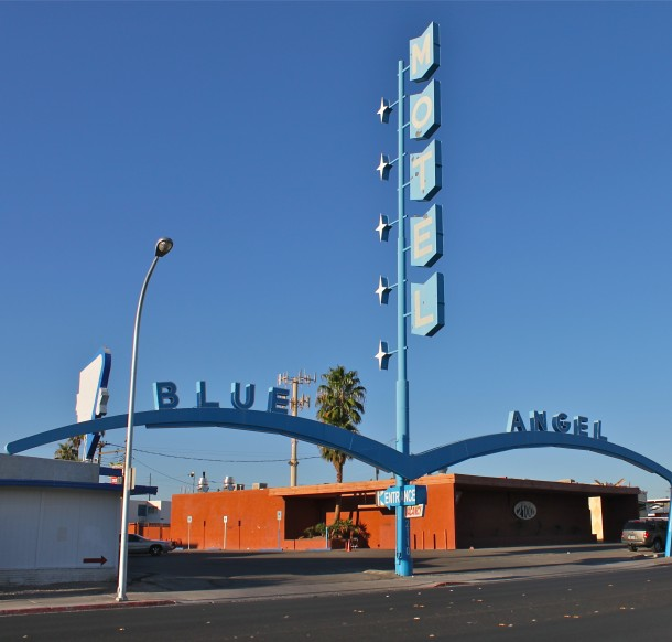 Daily Neon: Blue Angel Motel on East Fremont